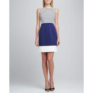 Kate Spade ♠️ Nautical Blue White StripeMidi Dress